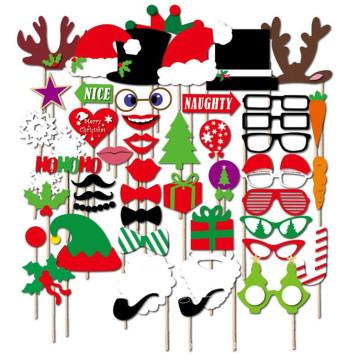 FQ marke 50 stücke holz weihnachten photo booth requisiten