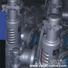 Válvula de seguridad de baja elevación con brida RF de acero fundido y resorte