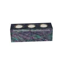 Titular de vela de metal de alta calidad con shell paua