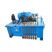 El sistema hidráulico se aplica a la prensa hidráulica de doble efecto