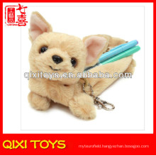 2014 New Design Plush Dog Pencil Case Toy Plush Pencil Case