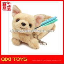2014 Novo Design Plush Dog Lápis Caso Toy Plush Pencil Case