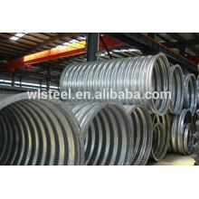 Meio círculo galvanizado canalização de aço corrugado