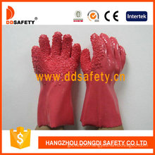100%Cotton Gloves, Pink PVC Rough Chip Finished (DPV106)