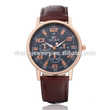 Hot Sale Montre en cuir de quartz simple de luxe SOXY046