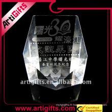 2011 Prix promotionnel de cristal laser 3D promotionnel