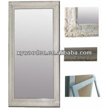 gray 60x90cm wood antique frame for mirror silver bevelled