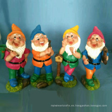 Polyresin Garden Gnome Decoración Bright Coloured Dwarf 4 / S
