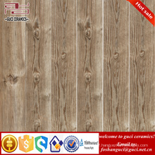 China factory 3D inkjet grays wood ceramic floor tile in shop design