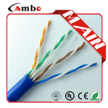 CAT5 CAT6 Solid Unshielded Twisted Pair Cable , CAT5 Plenum Rated Cable 350MHz 4PR UTP 24AWG Solid Bare Copper 1000ft Pull Box