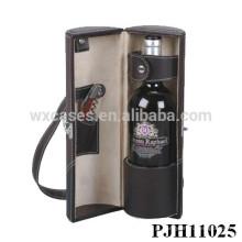 portador de couro vinho de alta qualidade para o frasco único fabricante, China