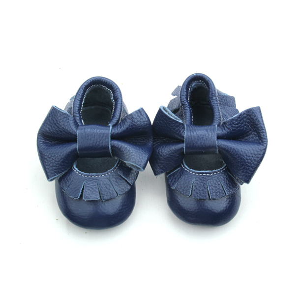 Dressy First Step Shoes Moccasin Bow Baby Shoes