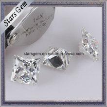 La princesse blanche superbe a coupé la pierre lâche de Moissanite pour des anneaux de bijoux