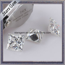 Super branco princesa corte Moissanite Loose Stone para anéis de jóias