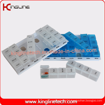 High Quality Plastic Medicine Box with 28-Cases (KL-9020)