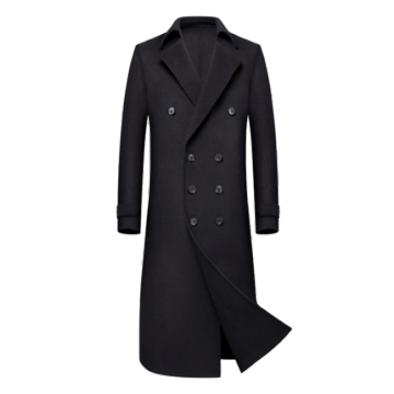 Mäns Cashmere Full Length Overcoat