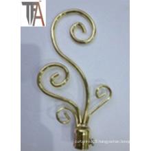 Iron Material Decorate Curtain Cap
