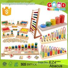 Nuevos Multifunción Niños Madera Abacus Marco Educativo Perlas Juguetes Educación Temprana Niños Soroban Abacus