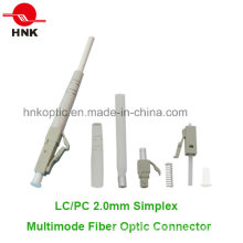 LC PC 2.0mm Simplex Multimode Fiber Optic Connector