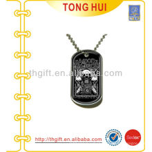 Skull Halloween logo dog tag necklace distributor imitation jewelry