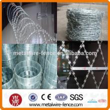 Maquillaje proveedores China peso de PVC recubierto de alambre de púas
