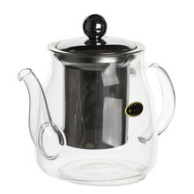 glass filtering tea maker teapot with strainer
