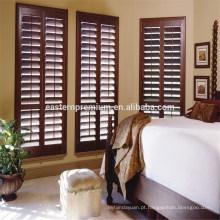 dentro de casa decoração basswood clear view plantation shutter
