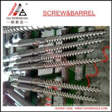 Barril cónico de doble tornillo para extrusora de tubos UPVC / barril de tornillo cónico