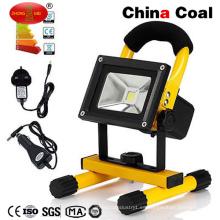 Luz que acampa de la inundación solar al aire libre recargable del LED