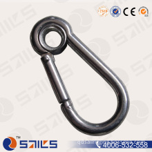 A2 (304) Polished Stainless Steel Snap Hook with Eyelet