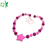 Nowa ozdoba Fashion Silicone Necklace Beads for Baby