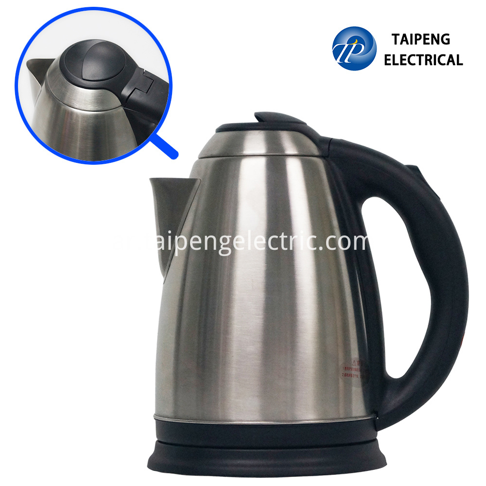 Electric stainless steel water kettle with large capacity