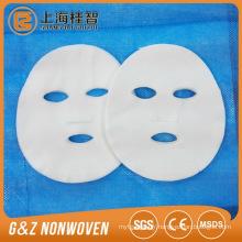 Masque facial feuille matière première100% coton non-tissé