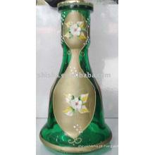 frasco de vidro de cachimbo de água, garrafa de shisha, narguilé garrafa
