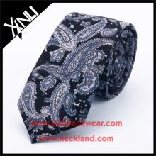 100% Handmade Paisley Print Mens Neck Tie