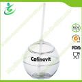 500 Ml Atacado Plastic Ball-Shape Straw Cup (TB-A5)