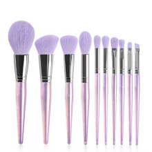Wholesalers High Quality Purple Synthetic Hair Eye Face Brush Luxury Private Label Custom Makeup Brush Set