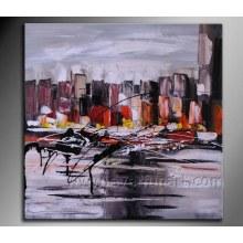 Decoração para casa Pintura a óleo abstrata (XD1-270)