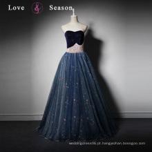 LSQ021 Real produtor gambar sexo popular salto alto sapato sapato comprimento vestido de uma peça vestido de formatura de veludo