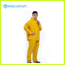 Rainsuit do PVC do poliéster do PVC de 0.32mm (RPP-041)