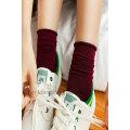 Мода хорошего качества девушка длинные зимние носки принять небольшие MOQ