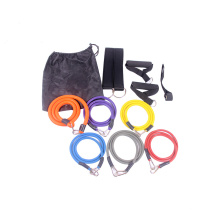 2019 High Quality 11pcs Latex Resistance Band set With Foam Handles For Abs Exercise Workout Fitness Kits