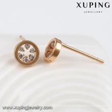 92367-Xuping desgaste diario O chapado en oro pendiente mejor vendedor vogue joyerías
