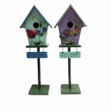 "Highly Recommended Garden Decoration Metal ""Welcome""Excellent Birdhouse"
