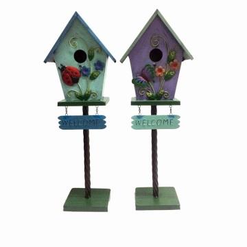 """Muy recomendable Jardín Decoración Metal """"Bienvenida"""" Excelente Birdhouse"""