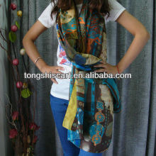 HD308-223 tribal print fashion scarf