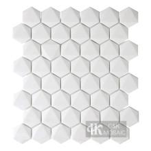 Новая коллекция 3D мозаика из переработанного стекла с белым шестиугольником
