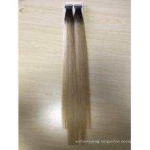 Human Hair Virgin Hair Omber Color 24inch 100g Weight Hand Insert Tape Hair Extensions Remy Grade Hair