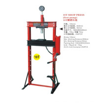 10 Ton Shop Press with Foot Pump