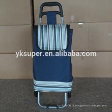 Carrinho de carrinho de compras elegante, carrinho de compras reutilizável